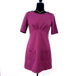 Burgundy Tunic Dress Vintage Style Le Chateau
